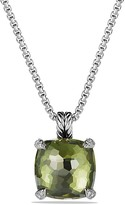 David Yurman Ch'telaine Pendant Necklace with Green Orchid and Diamonds