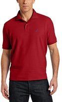 Nautica Men's Big & Tall Solid Deck Polo Shirt, Red, 3XLT