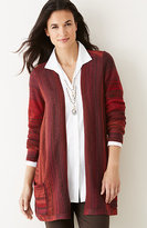 J. Jill Ombré-Striped Cardigan