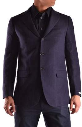 Ballantyne Men's Blue Linen Blazer