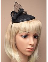 Inca Black Fascinator on Headband/ Clip-in for Weddings, Races and Occasions-5373