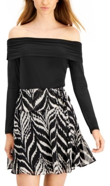 Bar III Off-The-Shoulder Bodysuit, Created for Macy's