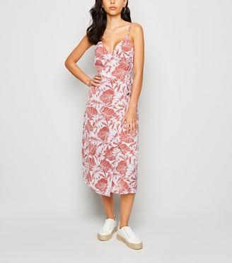 New Look Urban Bliss Tropical Print Midi Dress
