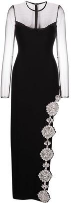 David Koma Crystal-Embellished Slip Dress