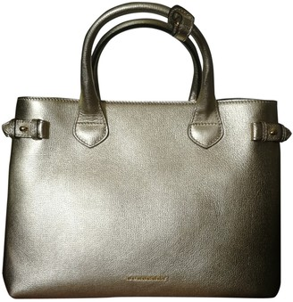 Burberry The Banner Gold Leather Handbags