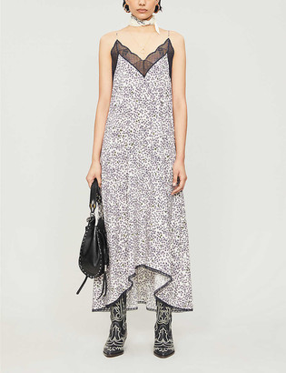 Zadig & Voltaire Risty floral-print crepe slip maxi dress