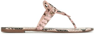 Tory Burch Miller snakeskin-effect sandals