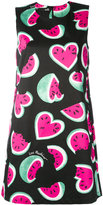 Love Moschino watermelon heart print dress - women - Cotton/Spandex/Elastane - 40