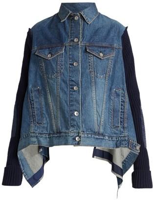 Sacai Denim & Knit Mix Handkerchief Jacket