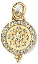 Temple St. Clair 18K Gold Halo Mandala Cutout Pendant with Pavé Diamonds