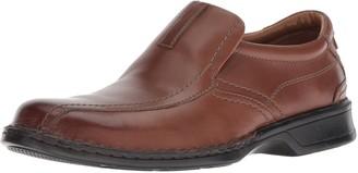 Clarks Men's Escalade Step Slip-on Loafer- Black Leather 7 D(M) US