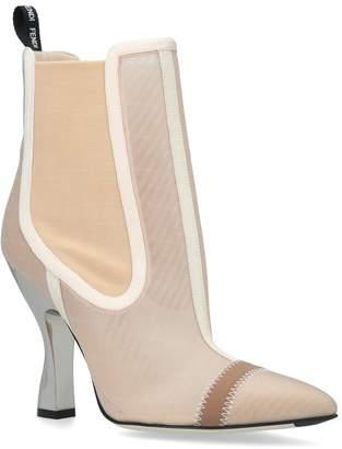 Fendi Mesh Ankle Boots 100
