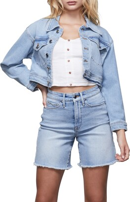 Good American Crop Denim Jacket