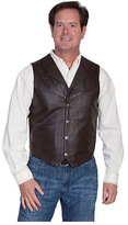 Scully Men's Lambskin Lapel Vest 509