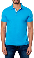 Jared Lang Contrast Placket Polo