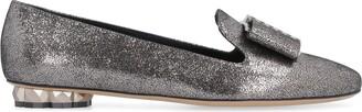 Salvatore Ferragamo Sarno Metallic Leather Loafers