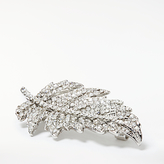 John Lewis Sparkle Feather Brooch, Silver