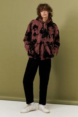 BDG Burgundy Tie-Dye Lined Corduroy Hooded Jacket