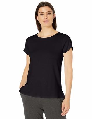 Amazon Essentials Women's Lightweight Lounge Terry Short-Sleeve Side-Slit T-Shirt