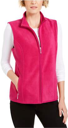 Karen Scott Zip-Up Zeroproof Fleece Vest