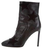 Roberto Cavalli Snakeskin Round-Toe Ankle Boots