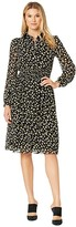 MICHAEL Michael Kors Tossed Lillies Dress (Black/Bright Dandelion) Women's Dress