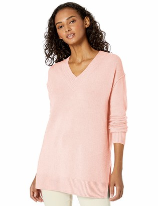 Daily Ritual Amazon Brand Women's Mid-Gauge Stretch V-Neck Pullover Sweater