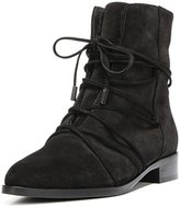 YDN Low Heel Booties Women Ankle Boots Casual Comfortable Walking Shoes Closed Toe Lace Quilted size 12