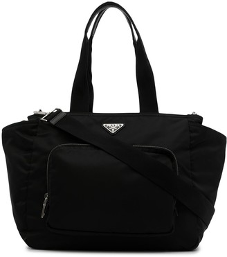 Prada Pre-Owned Large Triangle Logo Two-Way Bag