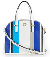Kate Landry Teddy Striped Dome Satchel