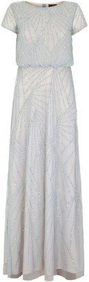 Adrianna Papell Blouson Bead Dress