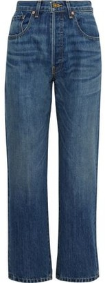 Nili Lotan Archer Faded High-rise Straight-leg Jeans