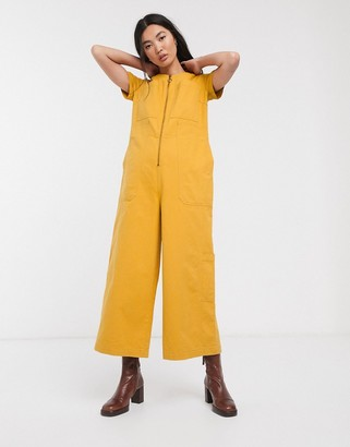 L.F. Markey felix boilersuit with zip front in yellow