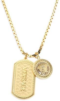 Versace Medusa Dog Tag Necklace