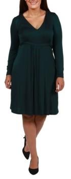 24seven Comfort Apparel Women's Plus Size Cocktail Dress
