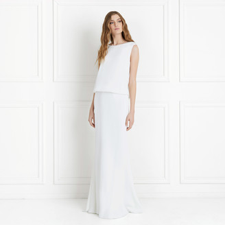 Rachel Zoe Ava Satin-Backed Crepe Gown