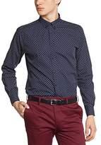 Merc of London Men's Coupe droite Button Down Long sleeve Dress Shirt - -