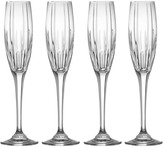 Mikasa Arctic Lights Crystal Champagne Flutes, Set of 4