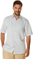 Cubavera Big & Tall Short Sleeve Floral Jacquard 1 Pocket Shirt