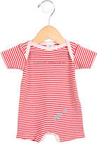 Petit Bateau Girls' Striped Short Sleeve All-In-One