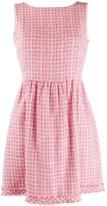 Blumarine Be Tweed Flared Dress