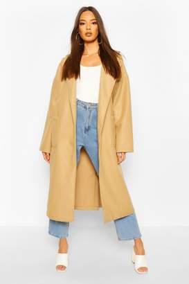 boohoo Oversized Button Through Wool Look Coat