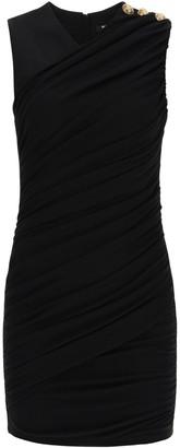 Balmain draped short dress