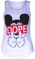 VIP Womens Sleeveless Mouse Dope Vest Top (M8) (8/10 (uk 12/14), )