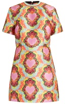 House of Holland Heart-print twill mini dress