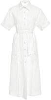 Miguelina Guayabera Long Shirt Dress