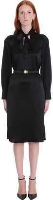 Tory Burch Bow Dress In Black Silk