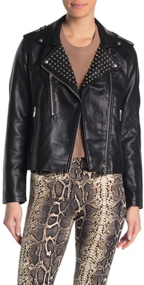 Cotton On Sandy Stud Faux Leather Jacket