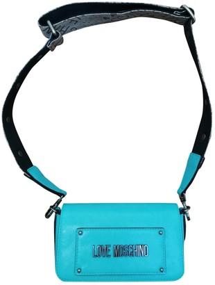 Moschino Blue Leather Handbags