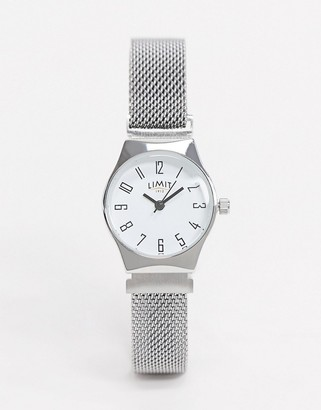 Limit magnetic mesh watch in silver